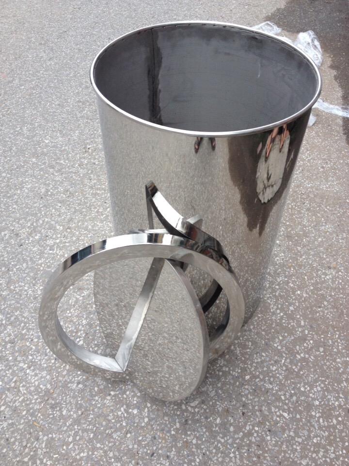 Thùng rác inox nắp xoay gia công