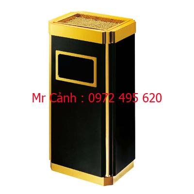 thùng rác inox mạ vàng a33