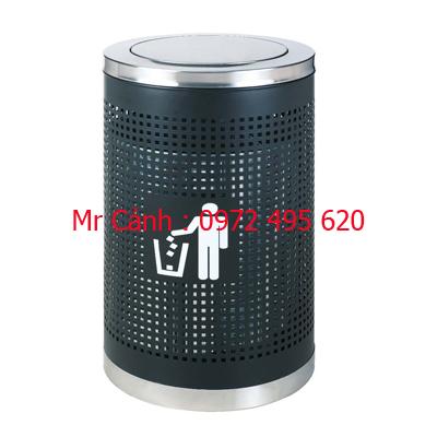 thùng rác lưới nắp lật A35-R