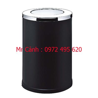 thùng rác màu đen nắp xoay A35-G