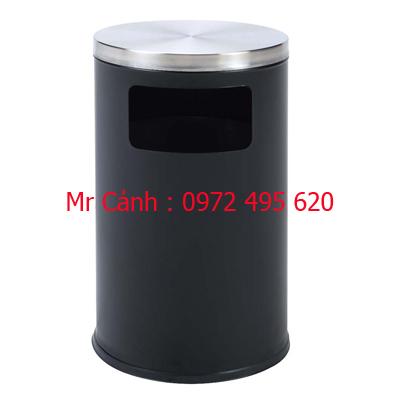 thùng rác màu đen