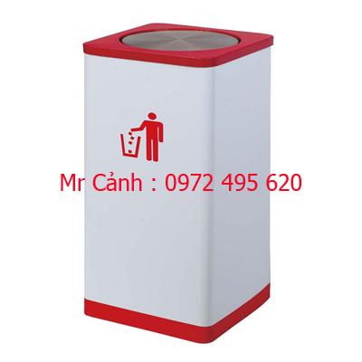 thùng rác inox A43-E