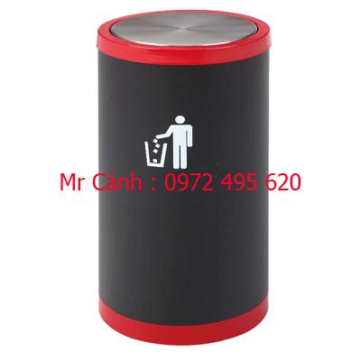 thùng rác inox nắp lật A43-F