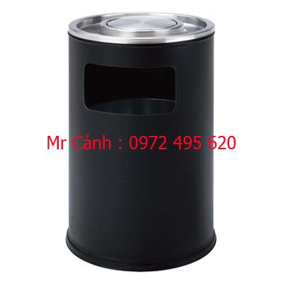 thùng rác màu đen A48-G