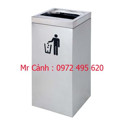 thùng rác inox A86-E