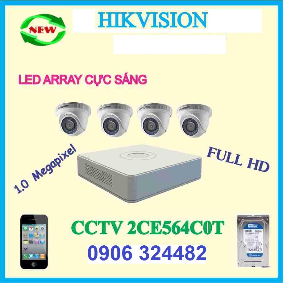 Trọn Bộ 4 CCTV 2CE564C0T
