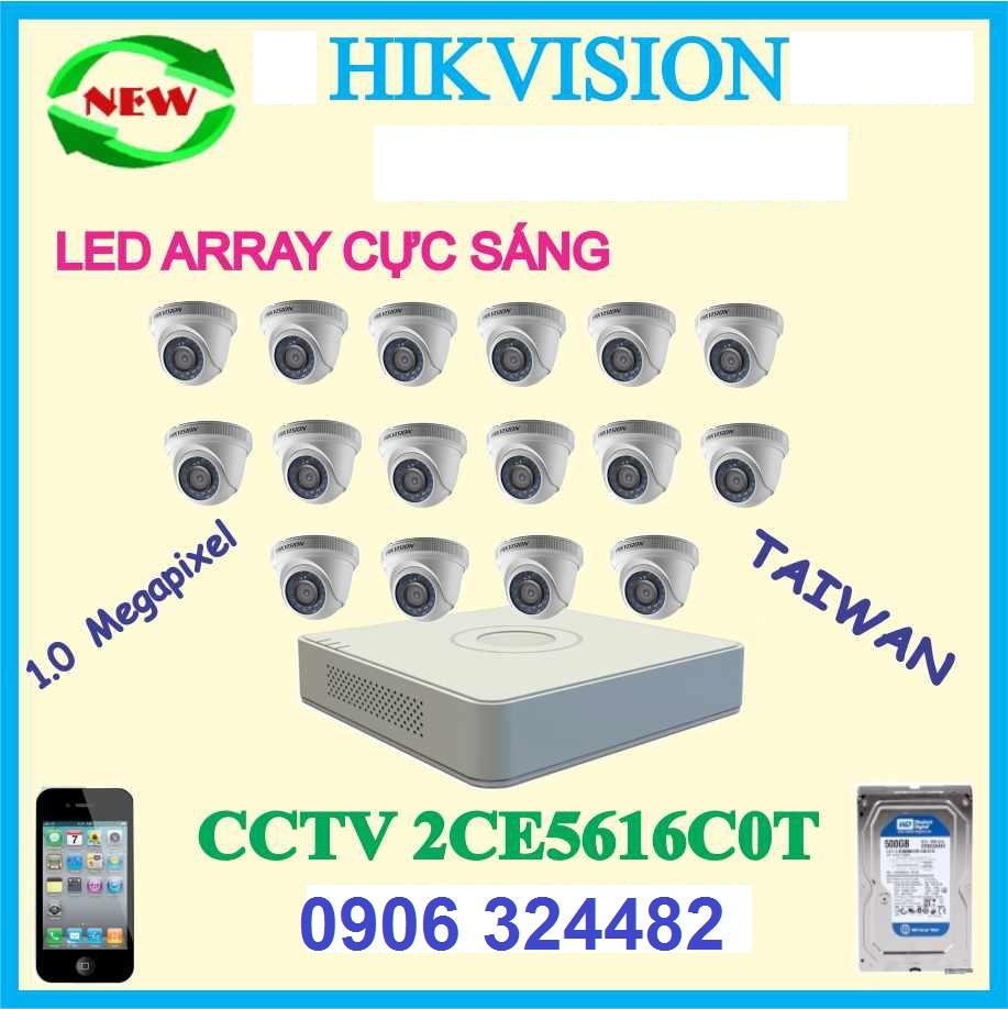 Lắp Đặt Camera Trọn Bộ 16 Camera Hikvision