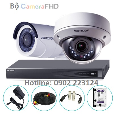 Bộ 2 Camera Hikvision