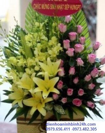 Shop hoa tươi tại Ninh Bình thiết kế hoa chuyển phát điện hoa theo yêu cầu