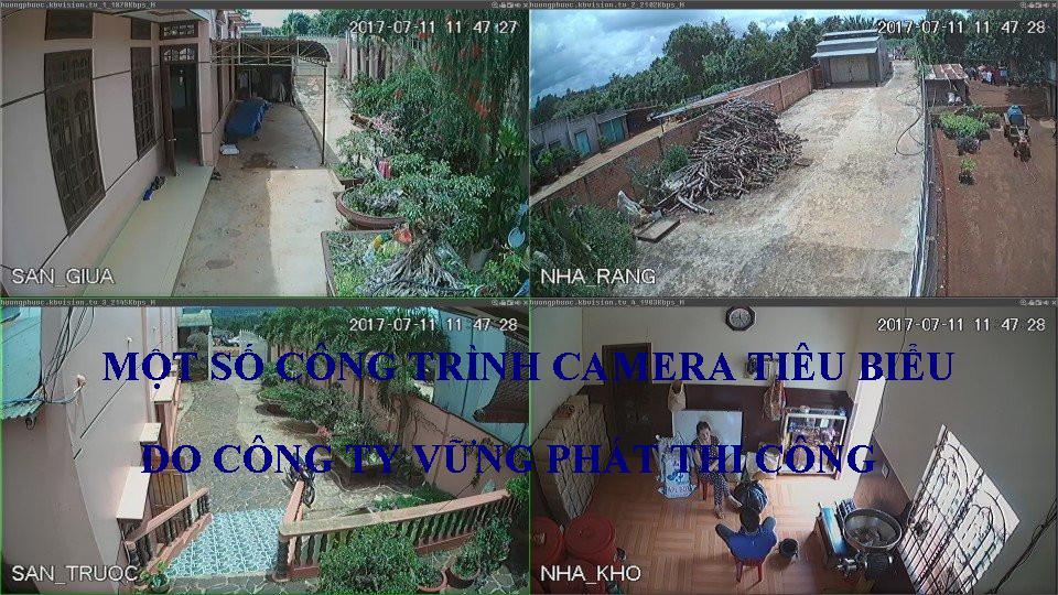 Các công trình tiêu biểu công ty đã thi công lắp đặt camera