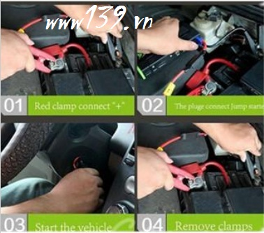 Pin sạc dự phòng kiêm thiết bị kích bình xe hơi Power Bank Car Jump Starter TM10 16800mAh (Đen)