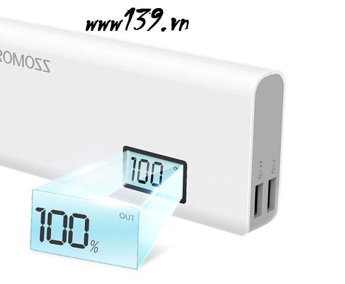 Pin sạc dự phòng Romoss Sense 4 Plus 10400mah (Trắng)
