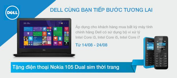 Mua máy tính Dell tặng Nokia N105
