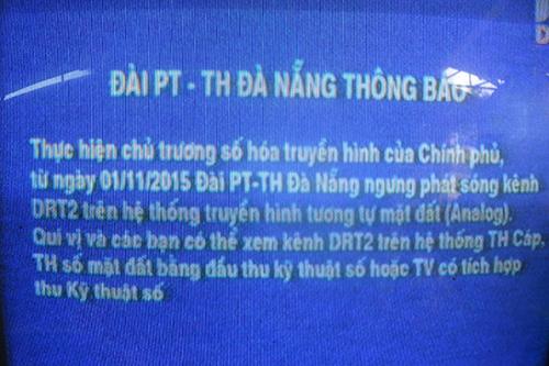 Ngưng dịch vụ truyền hình analog tại Tp.Hồ Chí Minh,Hà Nội,Đà Nẵng,Cần Thơ và Hải Phòng.