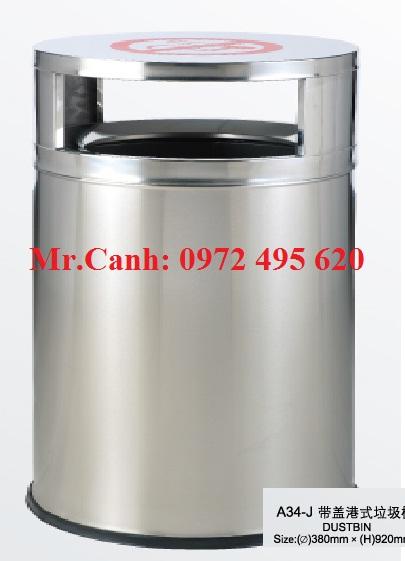 Thùng rác inox A34-J