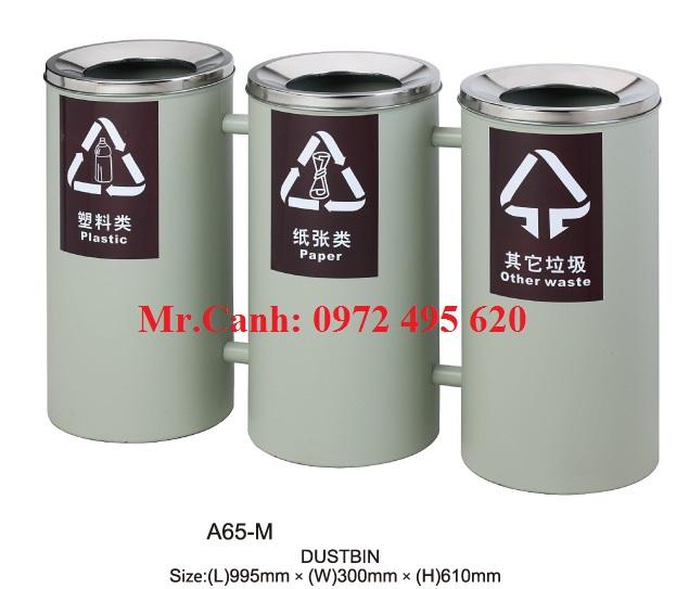 thùng rác ba ngăn A65