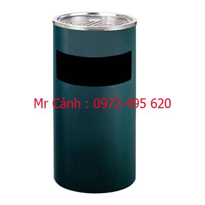 thùng rác gạt tàn màu xanh a35-a