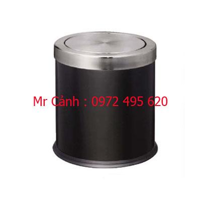 Thùng rác màu đen inox a36-h