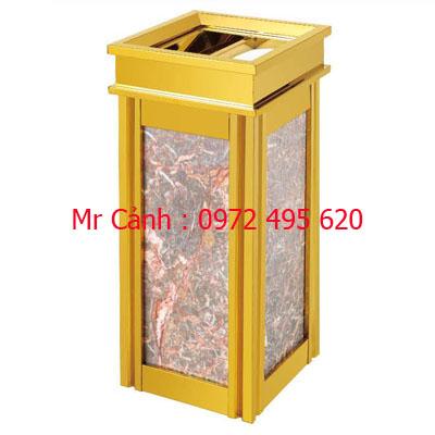 thùng rác mạ vàng a17-a