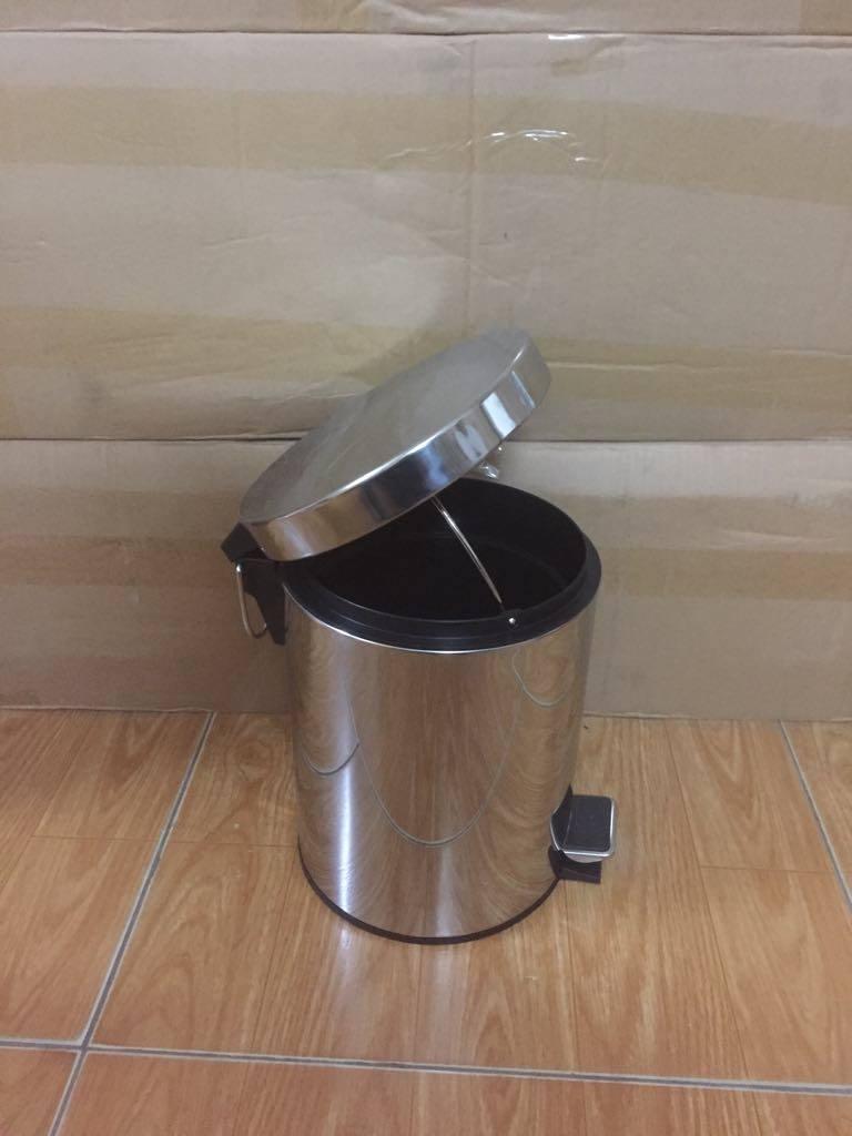 thùng rác inox có đạp chân 5 lít