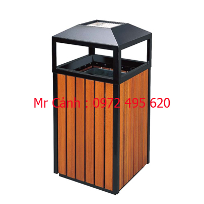 Thùng rác gỗ vuông A78-A