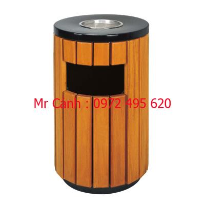 thùng rác gỗ ngoài trời A78-C