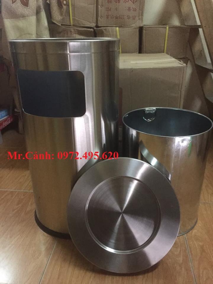 thùng rác inox A35-N