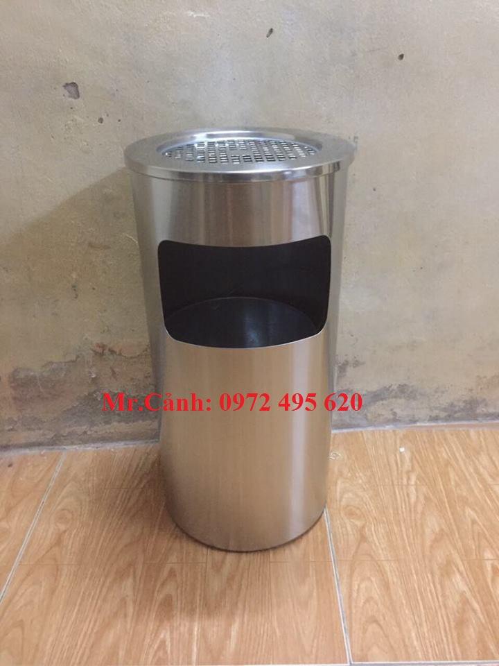 thùng rác có gạt tàn thuốc lá A35-B