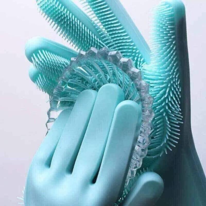Găng tay Silicon kiêm miếng rửa bát