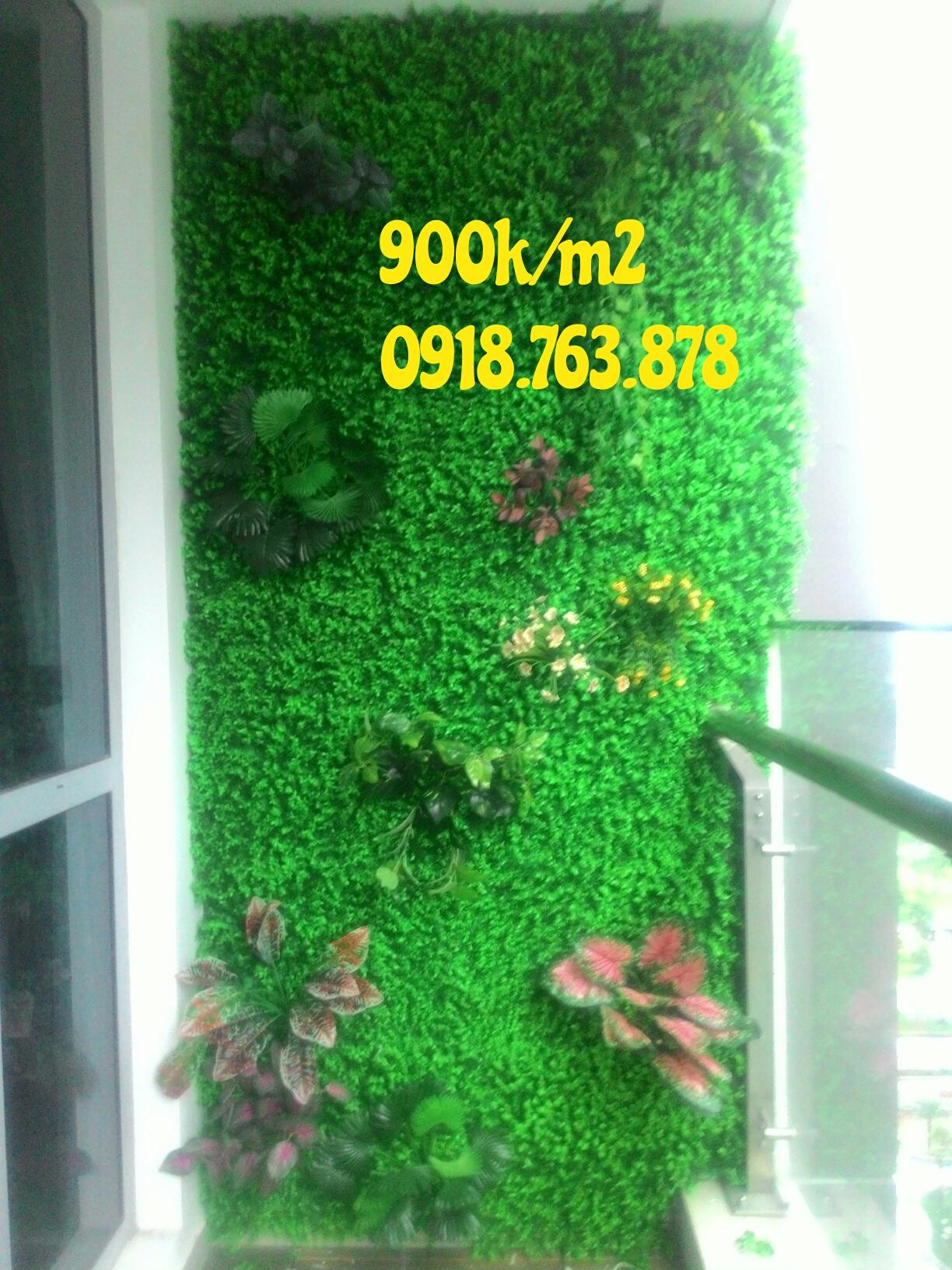 tường cây giả căn hộ vinhome