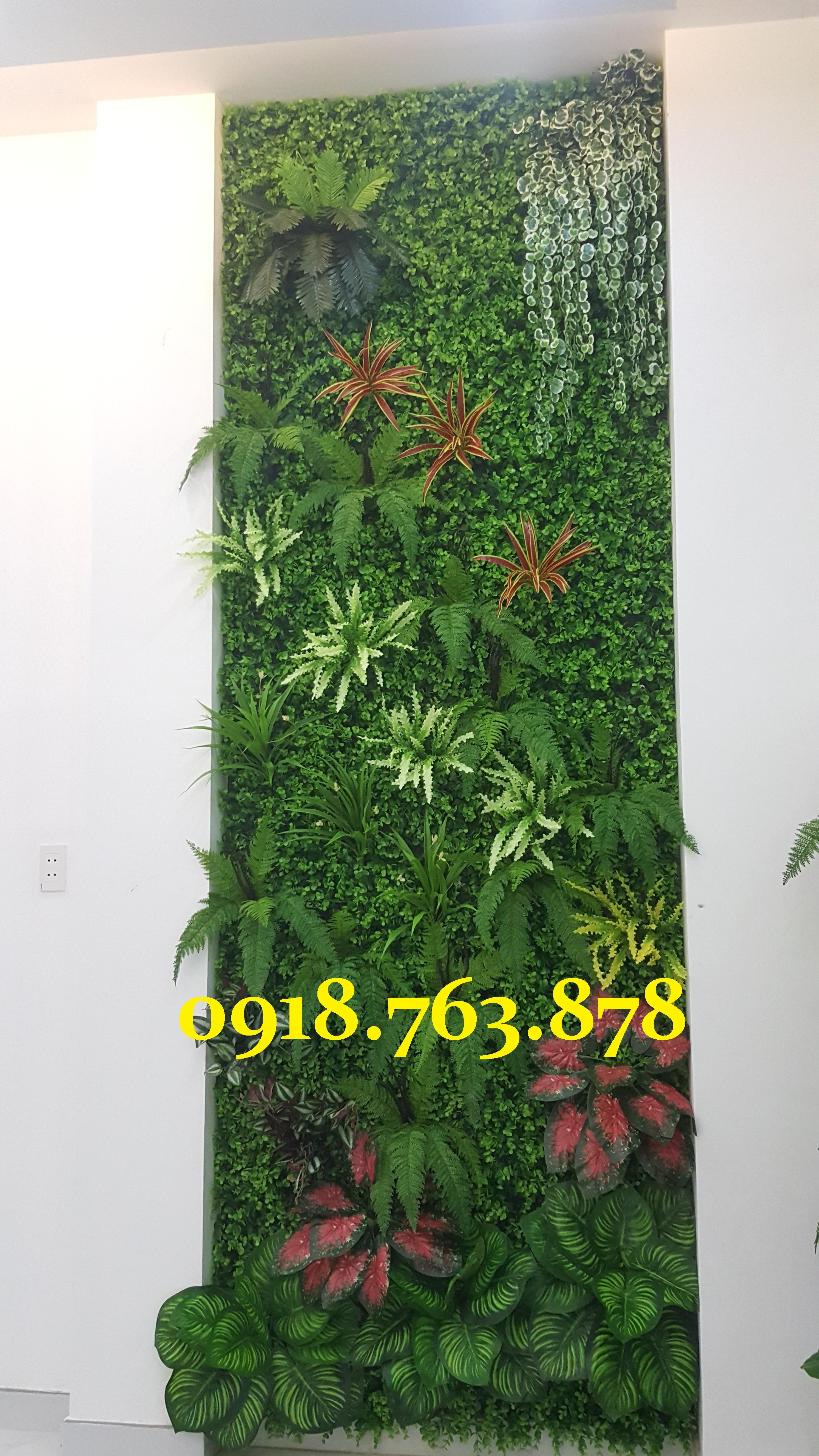 tường cây giả quận 8