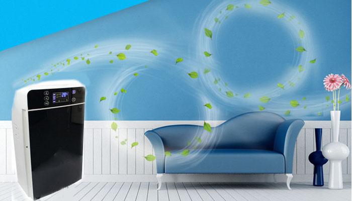 máy lọc không khí kết hợp giữa ozone và màng lọc