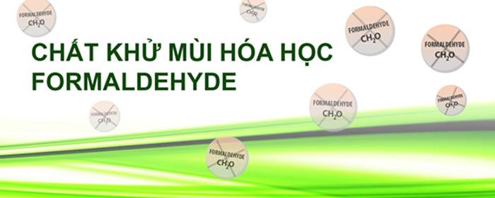 Formaldehyde là chất khử mùi hóa học phổ biến trong túi khử mùi