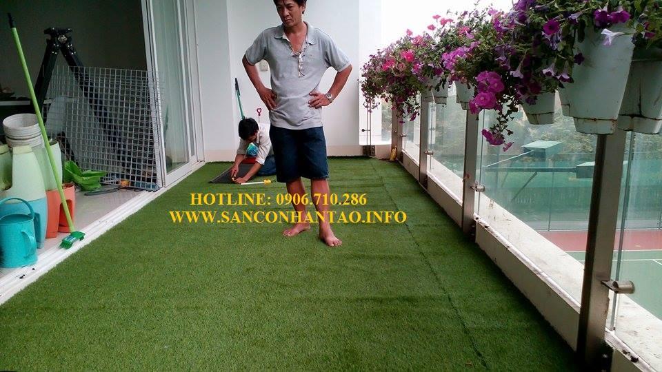 Trang trí cỏ nhân tạo cho căn hộ Thảo Điền quận 2
