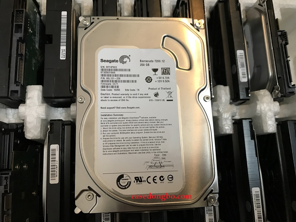 HDD Seagate 250GB/ 7200RPM.