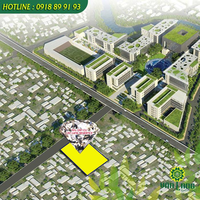 vị trí dự án Văn Lang Residence