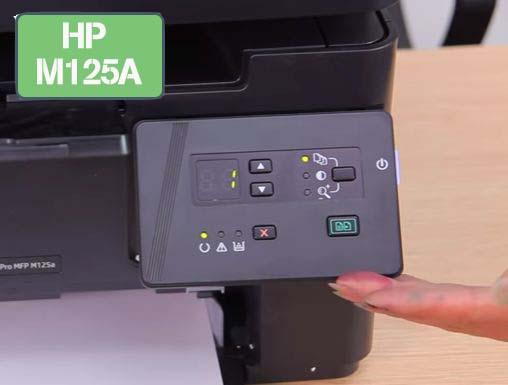 bảng điều khiển máy in Hp M125A