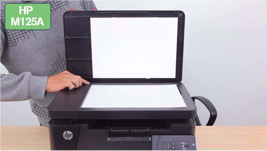 Hướng dẫn Scan photo máy in Hp m125a