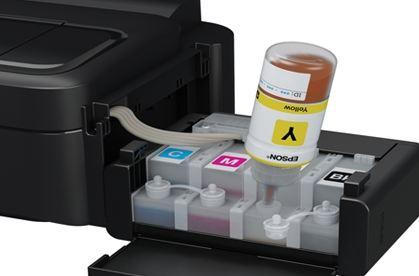 máy in phun hộp mực gắn ngoài dễ dàng đổ