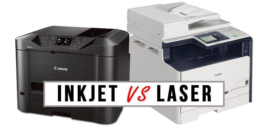 So sánh hai loại máy in laser và máy in phun