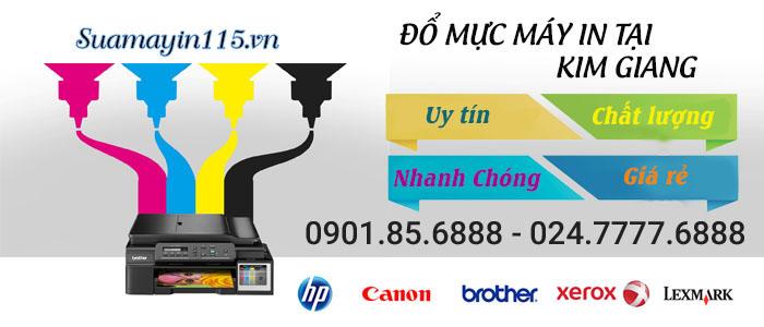 Dịch vụ đổ mực máy in tại đường Tam CHinh