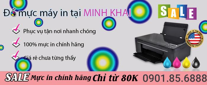 dịch vụ đổ mực máy in tại Minh Khai