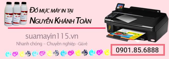 Dịch vụ đổ mực máy in tại đường Nguyễn Khánh Toàn