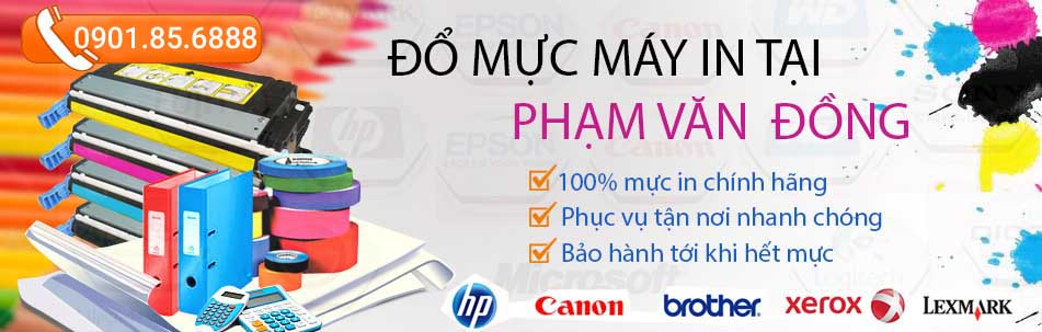 dịch vụ đổ mực máy in tại đường Phạm Văn Đồng