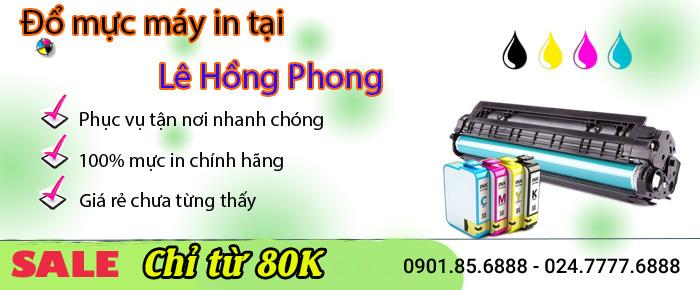 Dịch vụ đổ mực máy in tại đường Lê Hồng Phong