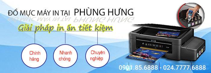 dịch vụ đổ mực máy in nhanh chóng tại Phùng Hưng