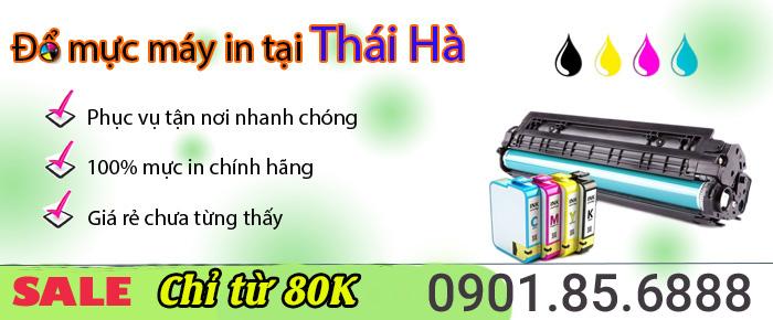 Đổ mực máy in tại Thái Hà