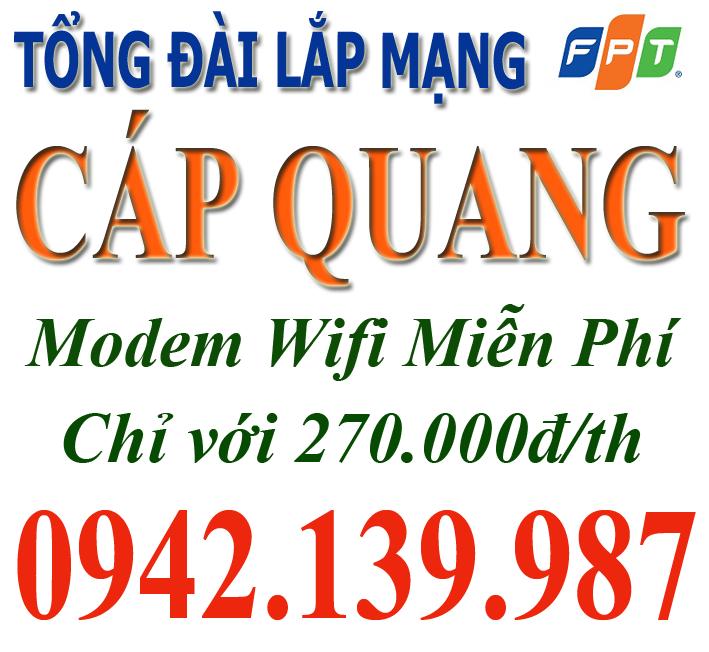Đăng ký mạng wifi FPT tại Cống Vị, Ba Đình, Hà Nội
