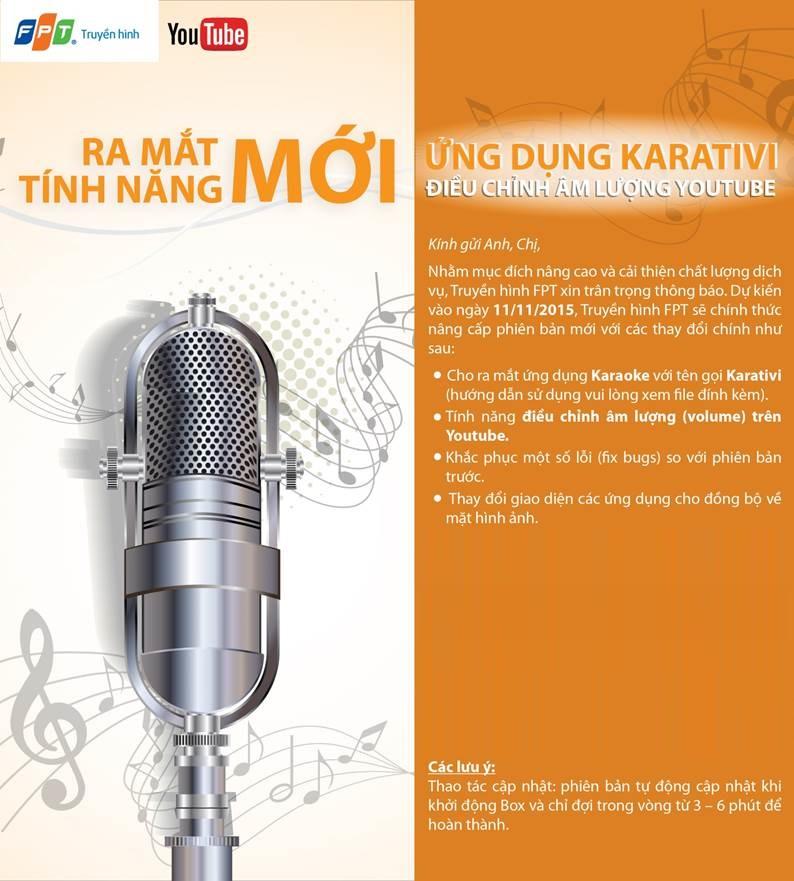 Truyền hình FPT ra mắt tính năng mới Karativi,Hát Karaoke