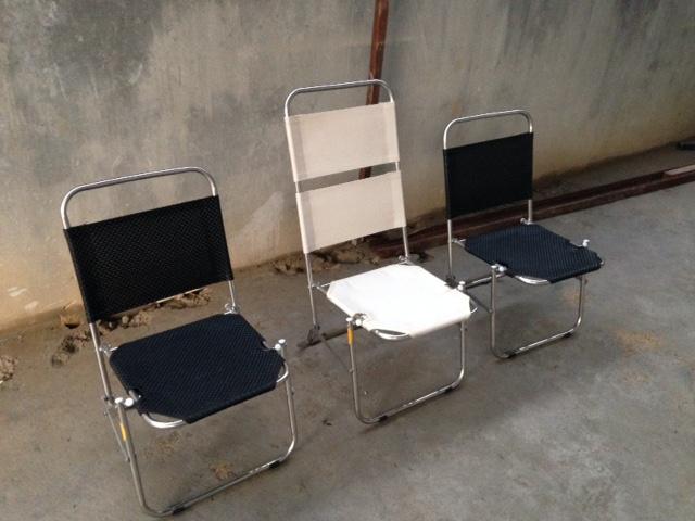 ghế xếp inox cafe